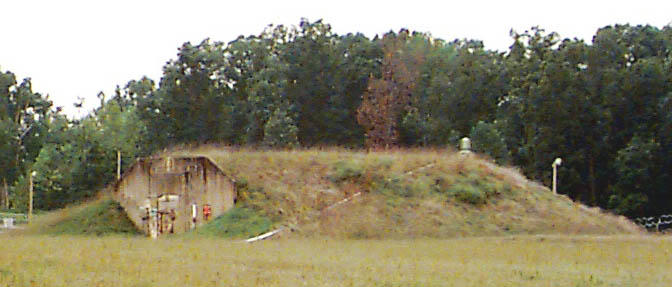 This is a side view of one of the igloos where chemical weapons are stored at the Bluegrass Army Depot in Richmond, KY.