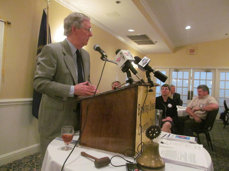 U.S. Sen. Mitch McConnell speaking at the Bowling Green Noon Rotary Club