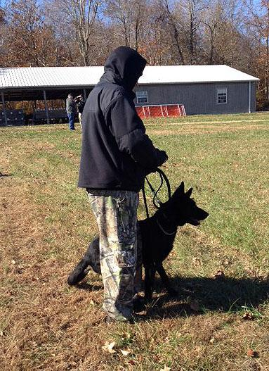 An officer with his future K-9 officer