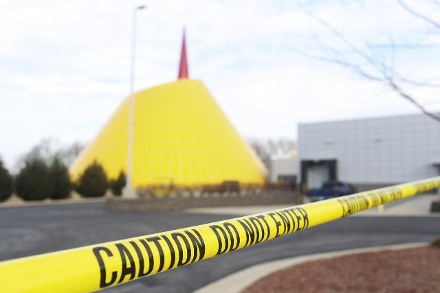 The National Corvette Museum is closed to visitors Wednesday after a 40-foot sinkhole opened up in the dome portion of the museum