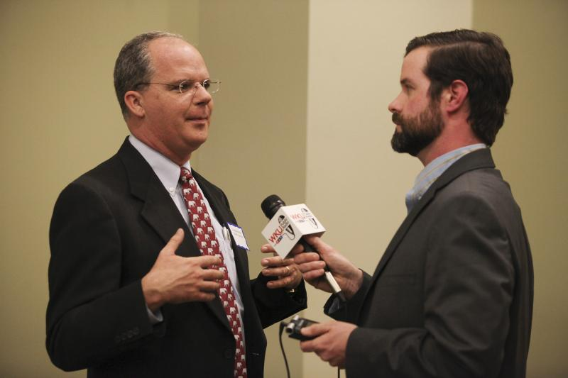 U.S. Rep. Brett Guthrie at the Lincoln Reagan Dinner at the Carol Knicely Center at WKU on Saturday, March 1, 2014.