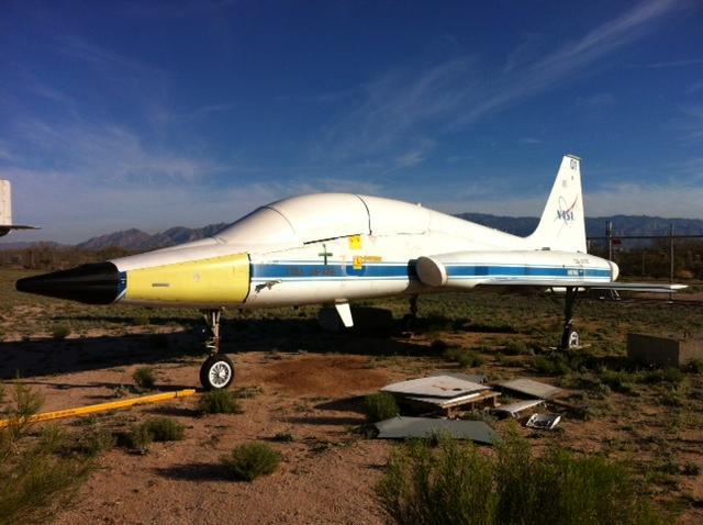 The T-38 Talon was dismantled in Tucson, Arizona for shipment to Bowling Green.