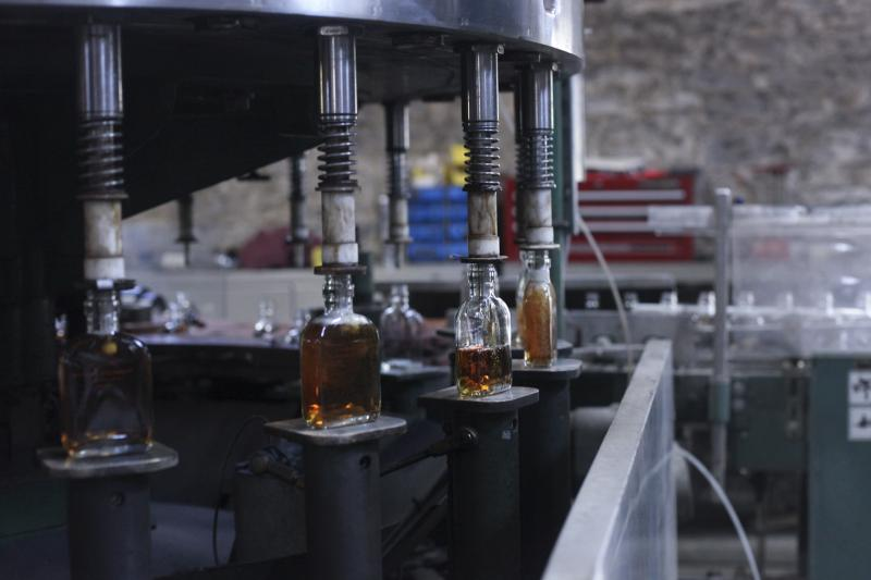 Bourbon is bottled at the Woodford Reserve Distillery in Versailles, Ky on Wednesday, April 9, 2014.