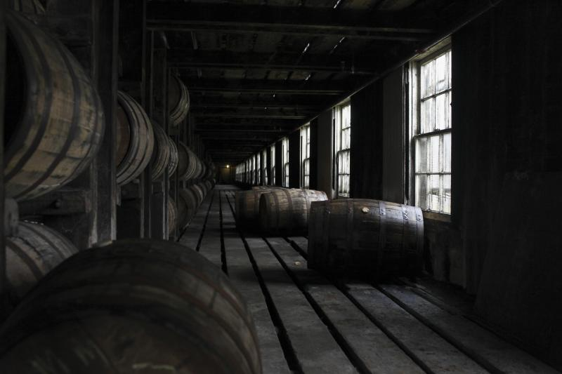 Barrels of bourbon age at the Wild Turkey Distillery in Lawrenceburg, Ky on Thursday, April 3, 2014.