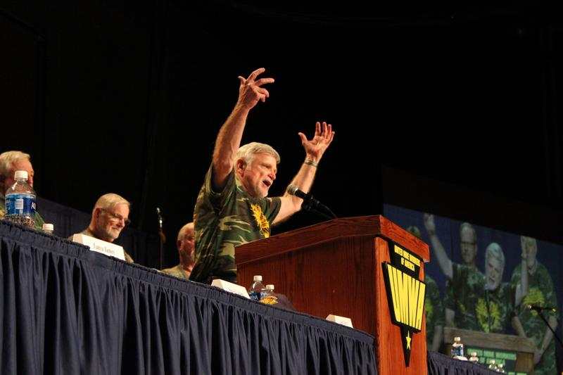 UMWA president calls the crowd to action in Lexington.