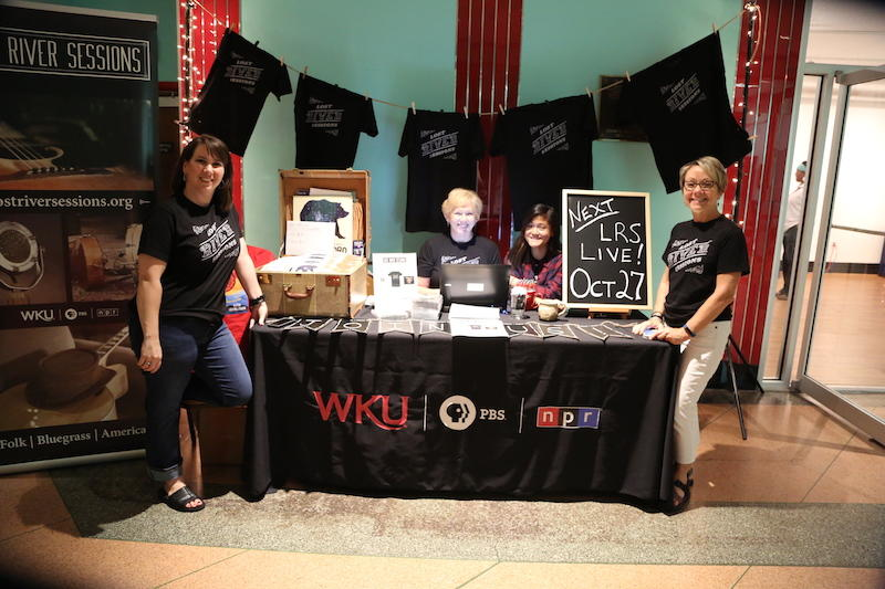The WKU Public Broadcasting development team in the lobby