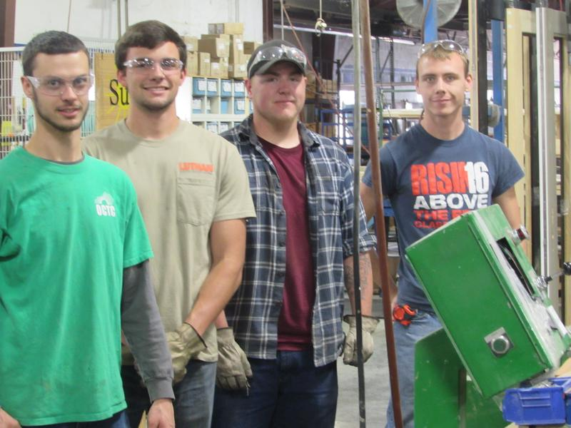 GO FAME apprentices at Sun Windows are, left to right, James Sloan, Stephen Perez, Walker Hohiemer and Colby Jarboe.