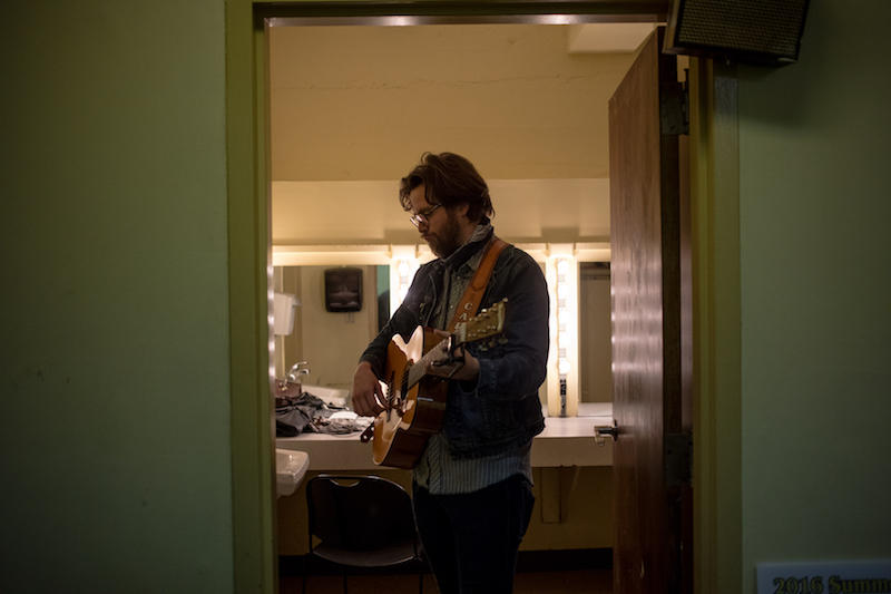 Carl Anderson rehearses in the green room of the Capitol Arts Center