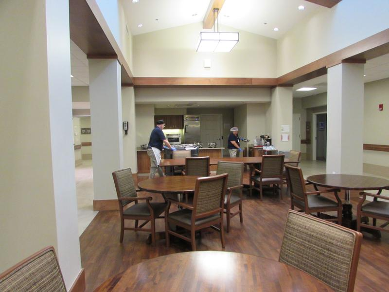 One of the dining areas at the Radcliff Veterans Center.