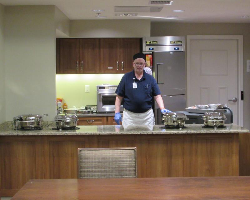 Kevin Carey is a food service worker at the Radcliff Veterans Center.