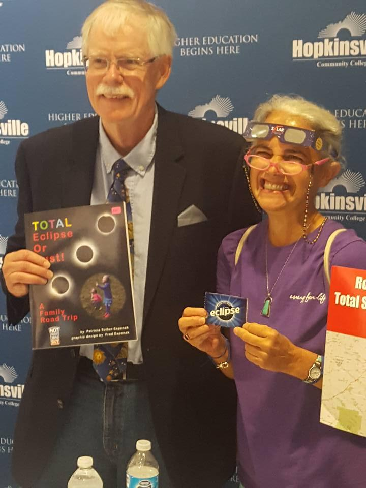 The man known in the astronomy world as Mr. Eclipse, Fred Espenak, holds a book signing at Hopkinsville Community College.
