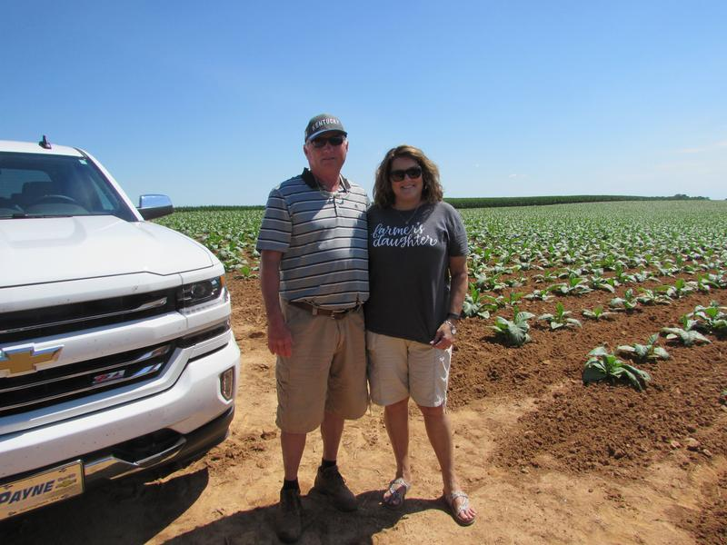 Phil and Jan Holliday on their farm in Logan County, Kentucky