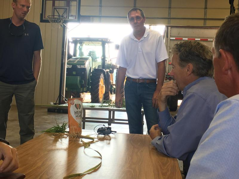 Farmers showed Paul a bag of edible hemp seeds from Canada (sold to U.S. consumers) and asked why Kentucky can't have a business that produces them.