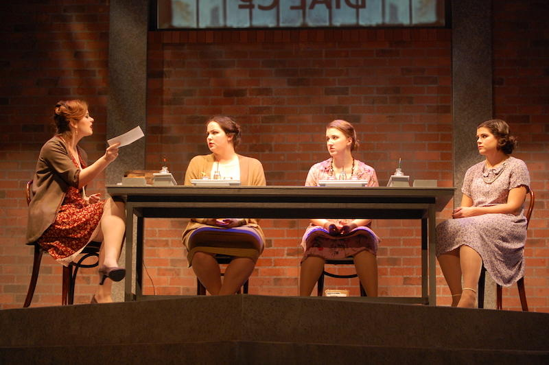Lauren Hanson, Arielle Conrad, Emily Huizenga and Sabrina Sieg on stage