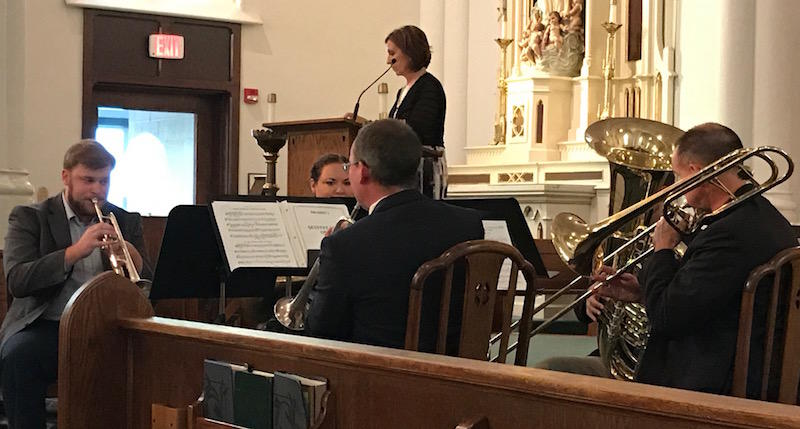 Southern Kentucky Brass performs at St. Joseph's Catholic Church in Bowling Green
