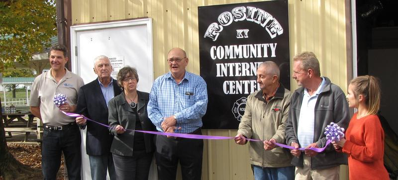 A ribbon cutting for the new Rosine Community Internet Center was held in November.