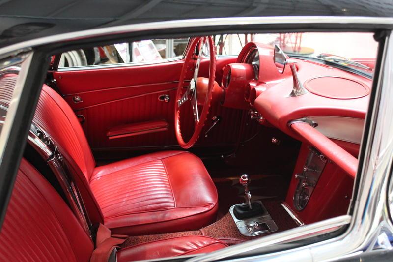 The restored interior of the 1962 Corvette