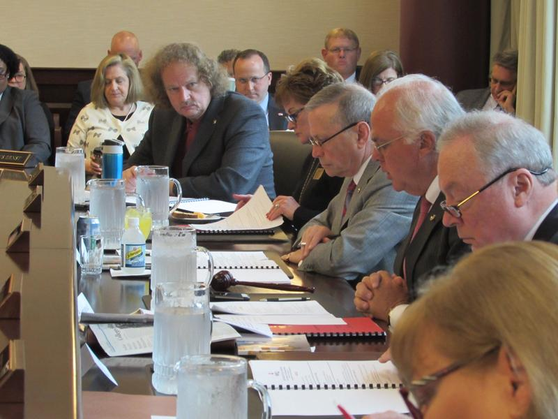 The WKU Board of Regents reviews the budget stabilization recommendations.