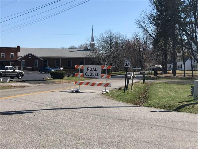 Millers Mill Rd. in eastern Daviess Co. remains closed to traffic.