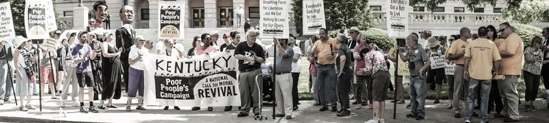 Kentucky Poor People's Campaign in Frankfort on May 14, 2018.