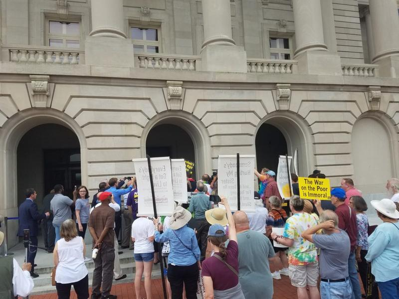 The Poor People's Campaign rallies at the Kentucky State Capitol June 13, 2018.