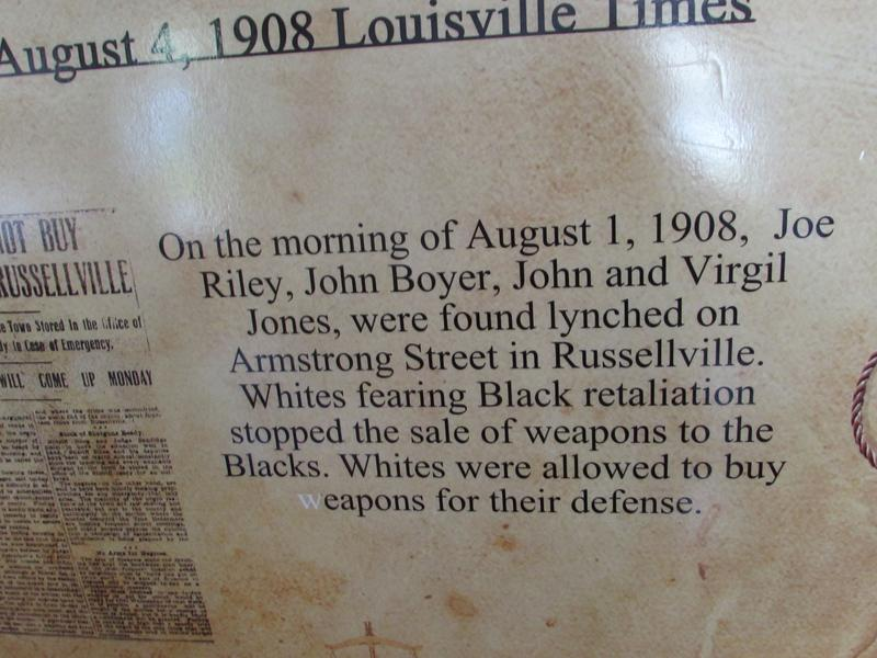 One of the exhibit items in the lynching museum in Russellville, Kentucky.