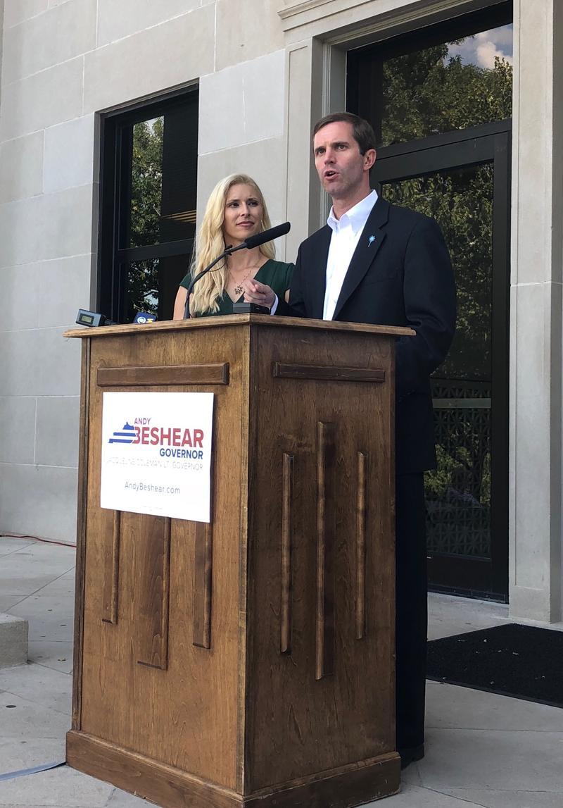 """""""We will push for term limits in our state legislature."""" said Kentucky Attorney General Andy Beshear while announcing his run for Kentucky Governor at Western Kentucky University."""