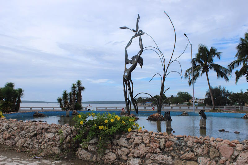 Public artwork in Cienfuegos, a city with a population of 150,000 along Cuba's southern coast