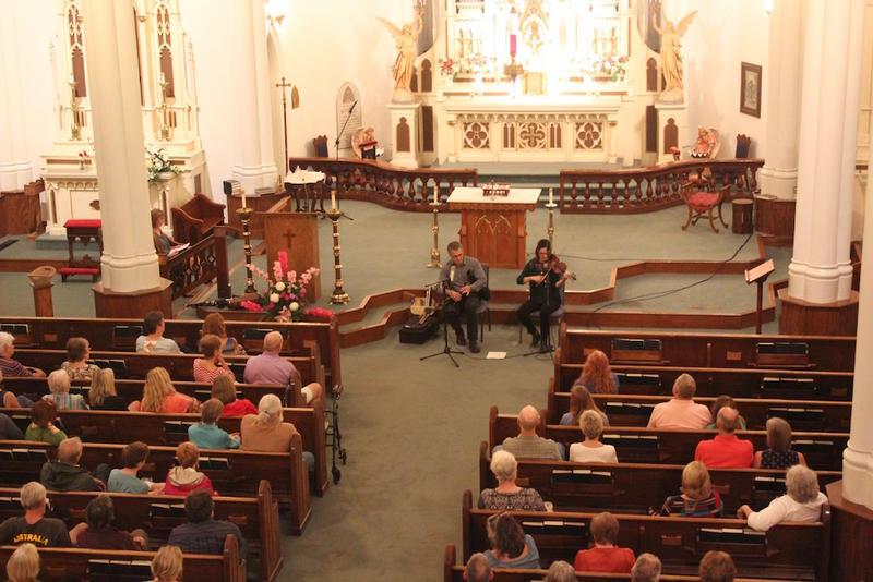 Skip Cleavinger and Rebecca Baumbach peform at St. Joseph's Catholic Church