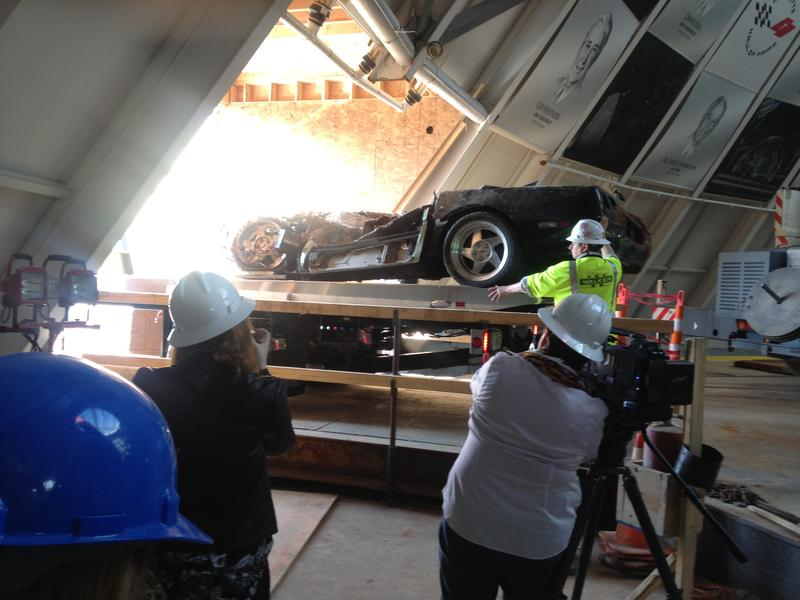 ZR-1 Spyder, one of eight vintage Corvettes removed from sinkhole inside the National Corvette Museum April 1, 2014