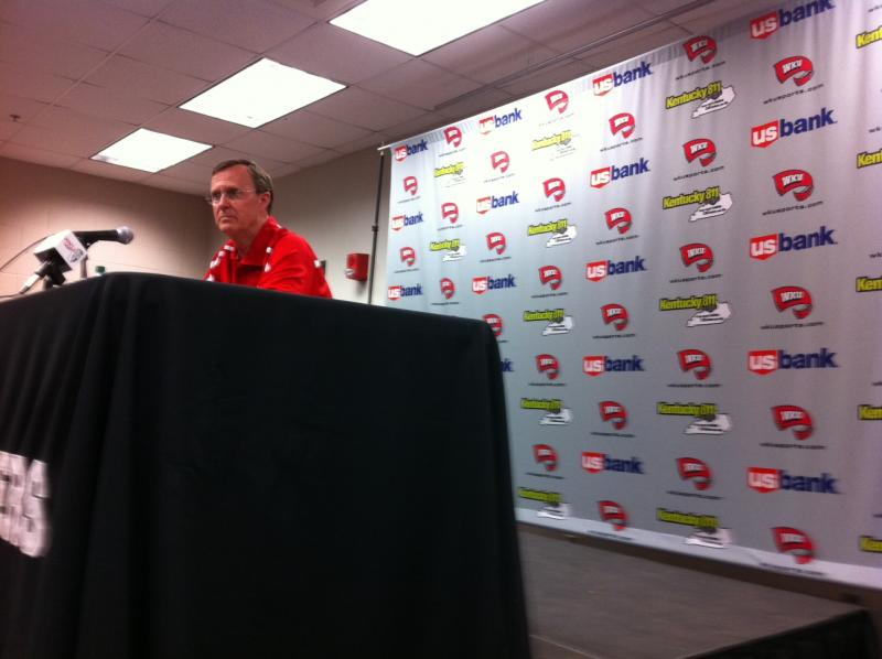 WKU President Gary Ransdell speaks to media Wednesday