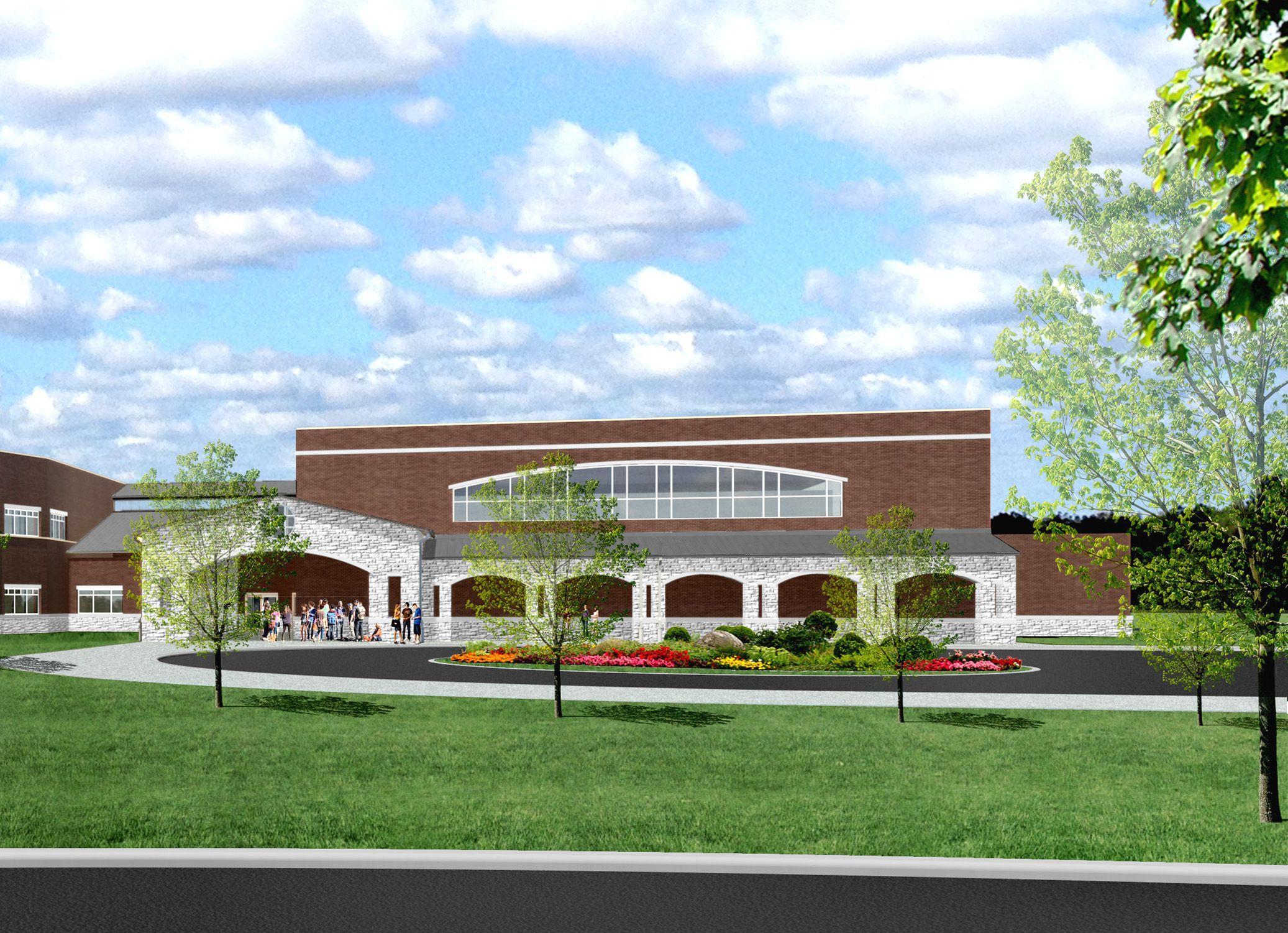 Jennings Creek Elementary architect's rendering.  ShermanCarterBranhartArchitects