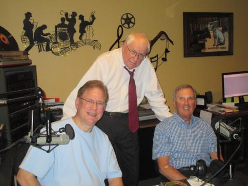 The Feeling of Jazz team: Dave Woodworth, engineer; Kent Lindquist and Bill Satterlee, co-hosts).