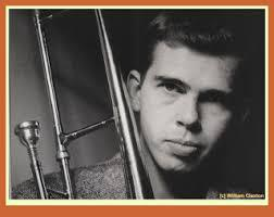 Portrait black and white photo, Bob Brookmeyer, from about 1960.