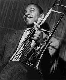 American jazz trombonist and composer and arranger J.J. Johnson.