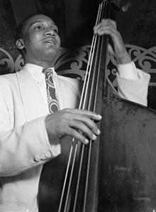 Oscar Pettiford, jazz bassist, from approx. 1948.