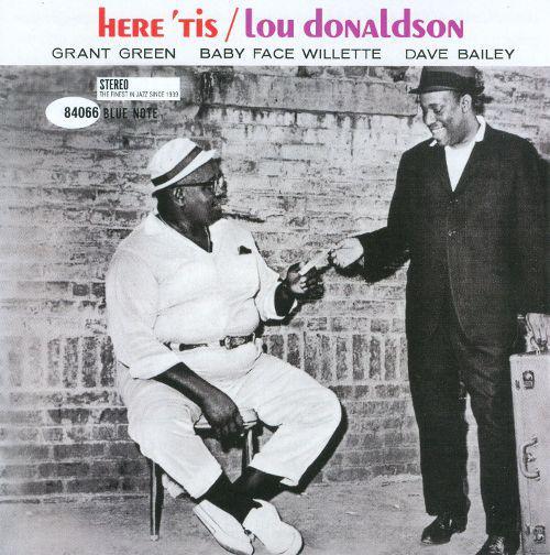 """Here Tis"" - Lou Donaldson album cover."