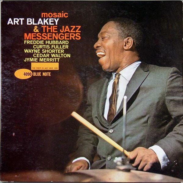 Art Blakey and his Jazz Messengers, cover art from his Mosaic album on Blue Note.