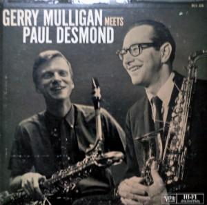 Gerry Mulligan Meets Paul Desmond, an Album by Paul Desmond & Gerry Mulligan. Released in 1957 on Verve (catalog no. MG V-8246; Vinyl LP). Genres: Cool Jazz. Rated #104 in the best albums of 1957.