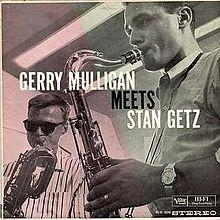 Gerry Mulligan Meets Stan Getz, a 1963 vinyl album release on verve records.