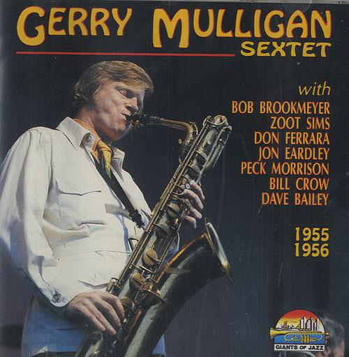 "Gerry Mulligan Sextet 1955 - 1956  ""Giants of Jazz"" album cover, Italy."