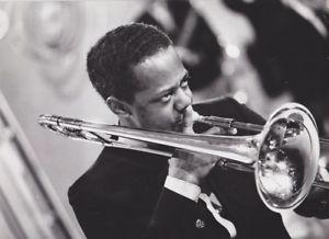 Jimmy Cleveland, jazz trombonist.