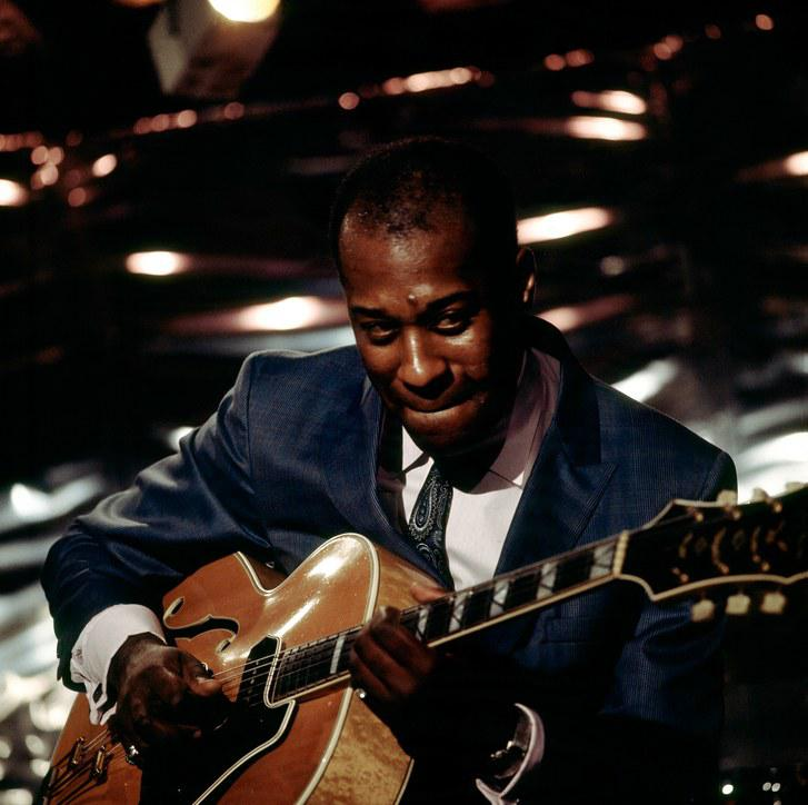 Grant Green, jazz guitarist in concert.