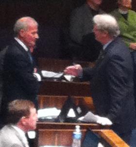 Fasano, left, led Republican renegades