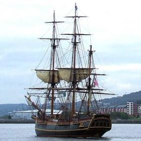 HMS Bounty: One-third larger than the original to accommodate film cameras, the ship had extensive Florida history.