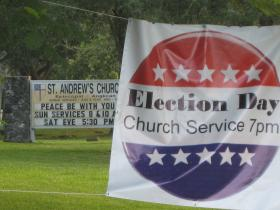 Forget Election Here: South Florida's only church for election night services is St. Andrews Episcopal in Palmetto Bay.