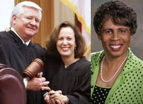Justices Three: R. Fred Lewis, Barbara Pariente and Peggy Quince.
