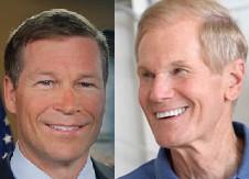 Mack, left, and Nelson debated at Nova Southeastern University