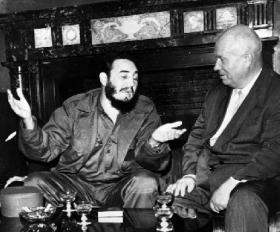 Khrushchev, right, considered Castro a hot head.