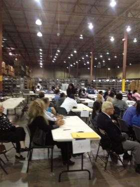 A peek inside the warehouse where Palm Beach County votes get tallied.